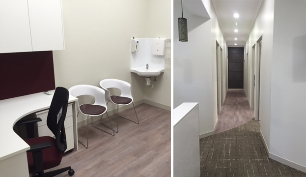Interior of our skin clinic in Darwin